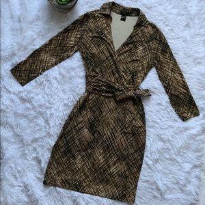 Ann Taylor ribbon tie waist jersey dress